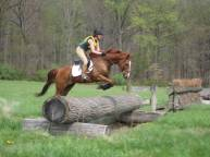 Student Zoe schooling xc at Fair Hill