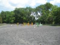 Outdoor riding ring