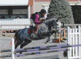 Oct 2013: Becca and Spy, finishing third in their first P/T division