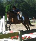 Student Crystal and her horse Donato