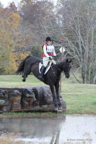 Mindy and Leo tackling the Prelim course at Virginia HT