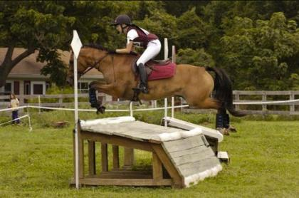 Student Alyson and her horse Chance competing at Prelim