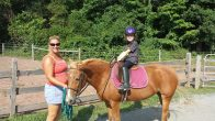 Student Arianna and pony Juliet
