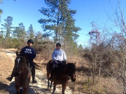 Trail riding in Aiken
